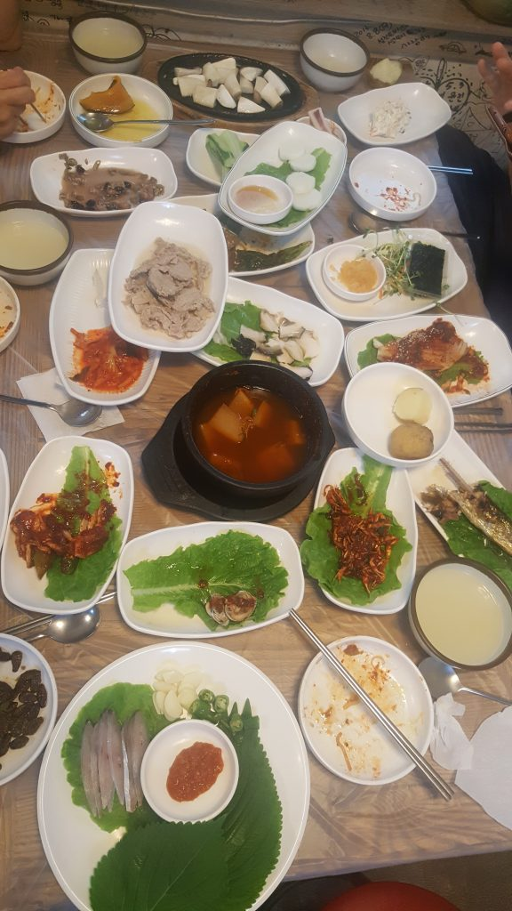 "You know that moment where you think you're done and the Koreans are like ""that was just the first course"" and you realize you're going to need to eat twice as much as you planned"